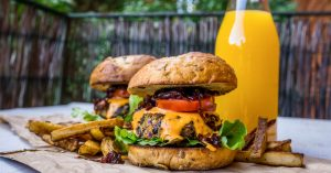 Black Bean Burgers with Caramelised Balsamic Onion